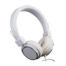 MS BEAT bijele žičane slušalice s mikrofonom , frekvencijski raspon 20Hz-20KHz, osjetljivost 108 dB