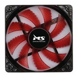 MS PC COOL 12cm LED RED, promjer 12 cm, 1000 o/min, protočnost zraka 43.2 cm3/min, buka u radu 19,8 dBA, 12 V