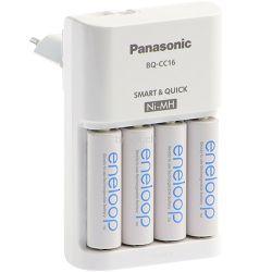Panasonic punjač baterija  + 4 komada Ni-Mh baterije ENELOOP, Sanyo smart & Quick punjač baterija