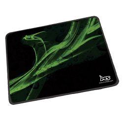 Podloga za miša MS X3ME DRAGON gaming podloga za miša, boja crna s zelenim; gornja strana: platnena