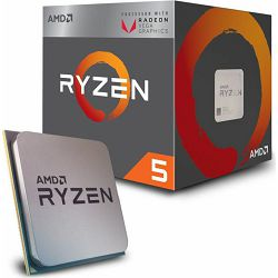 Procesor AMD Ryzen 5 2400G, 3.60GHz, 4MB Cache, s.AM4, YD2400C5FBBOX