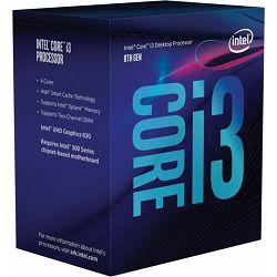 Intel Core i3-8100, LGA1151, BX80684I38100