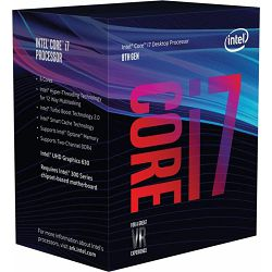 Procesor Intel Core i7-8700 (12MB Cache, 3.20 GHz), s.1151, boxed, BX80684I78700