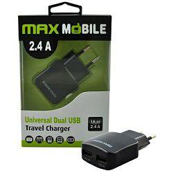 Punjač USB MAXMOBILE DUO 220V/TR-067 2.4A crni