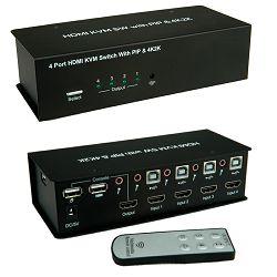 Roline VALUE KVM preklopnik, 1 korisnik - 4 računala, HDMI 4K2K/USB/Audio/USB Hub