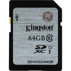 Secure Digital 64GB Kingston SDXC, UHS-I/Class 10, SD10VG2/64GB