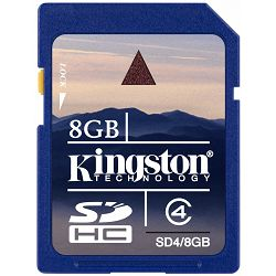 Secure Digital 8GB Kingston SDHC 8GB, Class 4, SD4/8GB