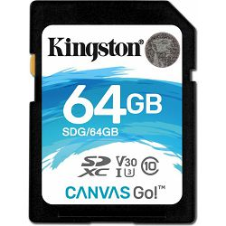 SD 64GB Kingston Canvas Go! R90MB/W45MB, SDG/64