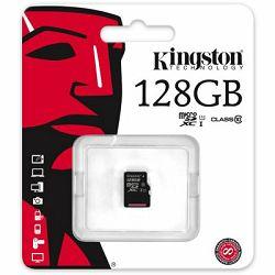 micro Secure Digital 128GB Kingston microSDXC, UHS-I/Class 10, SDC10G2/128GBSP
