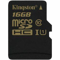 micro Secure digital 16GB Kingston microSDHC kit, Class 10, SDCA10/16GB