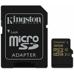 micro Secure Digital 32GB Kingston microSDHC kit, Class 10, SDCA10/32GB