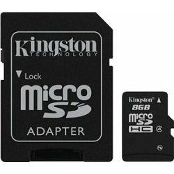 micro Secure Digital 8GB Kingston microSDHC kit, Class 4, SDC4/8GB