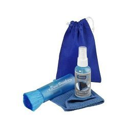 Set za čišćenje ekrana Vivanco, 4 dijela, četka, tekućina, tkanina, torba