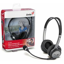 Slušalice s mikrofonom Genius HS-04B, Frekvencija: 20 - 20000 Hz, Osjetljivost: 112 dB, Impedancija