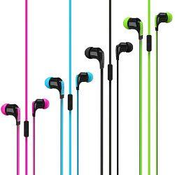 Slušalice Vivanco handsfree, za uši s mikrofonom, 4 boje, flat kabel