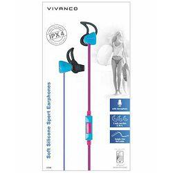 Slušalice Vivanco Sport IPX4/SPX60 roze