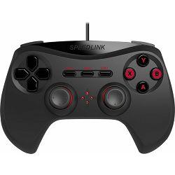 Speed Link STRIKE NX, Gamepad, crni, USB, analog/digital, force feedback, PS3