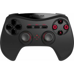 Speed Link STRIKE NX, Gamepad, crni, wireless, analog/digital, force feedback, PC
