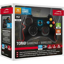 Speed Link TORID Gamepad - Wireless - for PC/PS3, black, Wireless PC and PS3* gamepad, robust 2.4GH