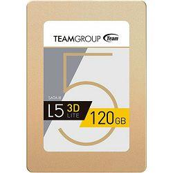 SSD 120GB TeamGroup L5 Lite 3D, SATA3, Read: 470MB/s, Write: 300MB/s, T253TD120G3C101