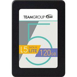 SSD 120GB TeamGroup L5 Lite, SATA3, Read: 500MB/s, Write: 300MB/s, T2535T120G0C101