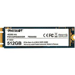Patriot SSD 512GB Scorch M.2, PCIe 3.0 x2, PS512GPM280SSDR