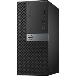 Stolno računalo Dell 3040 MT, i3-6100 3.70 GHz, 4 GB, DDR3, 500 GB, no VGA, Linux