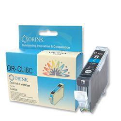 Tinta Canon CLI-8C plava, Orink, (bez mikročipa), za Pixma 4200/5200/5200R/6600D/MP500/MP800