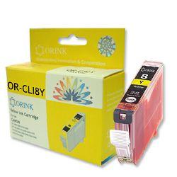 Tinta Canon CLI-8Y žuta, Orink, (bez mikročipa),za Pixma 4200/5200/5200R/6600D/MP500/MP800