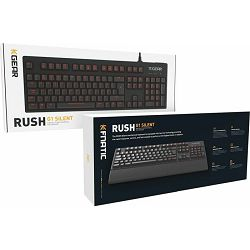 Fnatic Gear Rush Cherry MX Silent meh. tipkovnica, USB, Red MX Cherry Switches