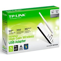 TP-Link WN722N Bežični USB Adapter 150Mbps (2.4GHz), 802.11n/g/b, Atheros, odvojiva antena