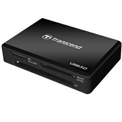 TRANSCEND TS-RDF8K Card Reader (SDXC/MS XC/CF/Mini SDHC/SDHC), USB 3.0, Black