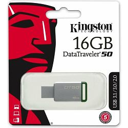 USB 16GB Kingston DT50, USB-A 3.0, DT50/16GB