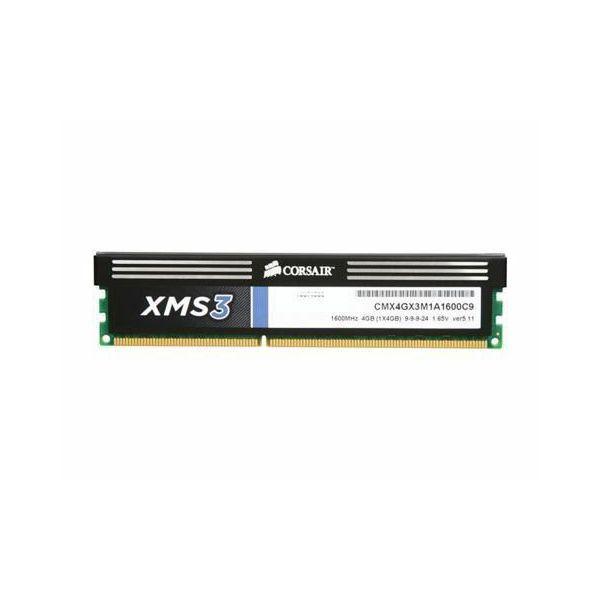 DDR3 4GB (1x4) Corsair 1600MHz XMS3, CMX4GX3M1A1600C9
