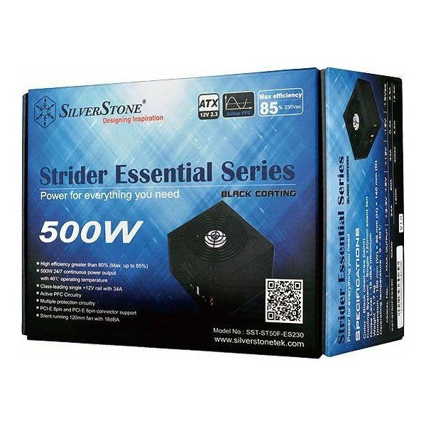 Silverstone 500W Strider Essential, SST-ST50F-ES230-V2, 80 PLUS