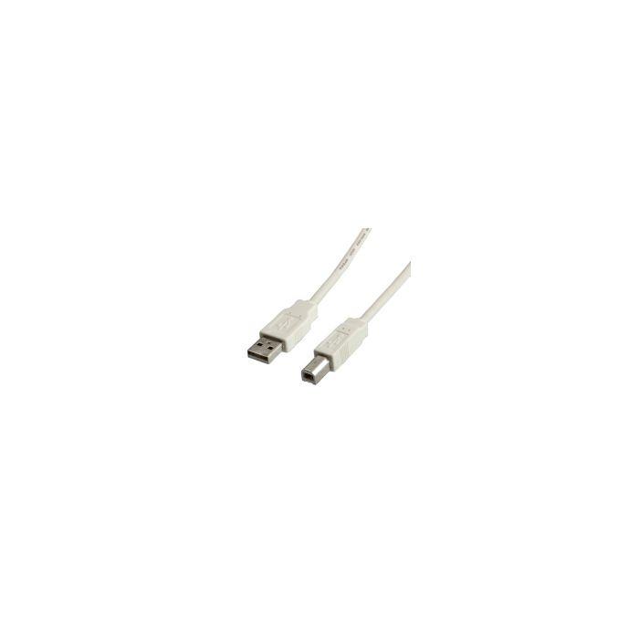 Kabel za printer USB 1.8m 2.0, Bijeli, Roline, 11.99.8819