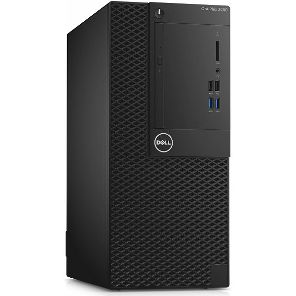 Stolno računalo Dell Optiplex 3050 MT, i3-7100 3.90GHz, 4GB DDR4, 500GB HDD, Intel HD, DVDRW, Win 10 Pro, 272841416-D0153