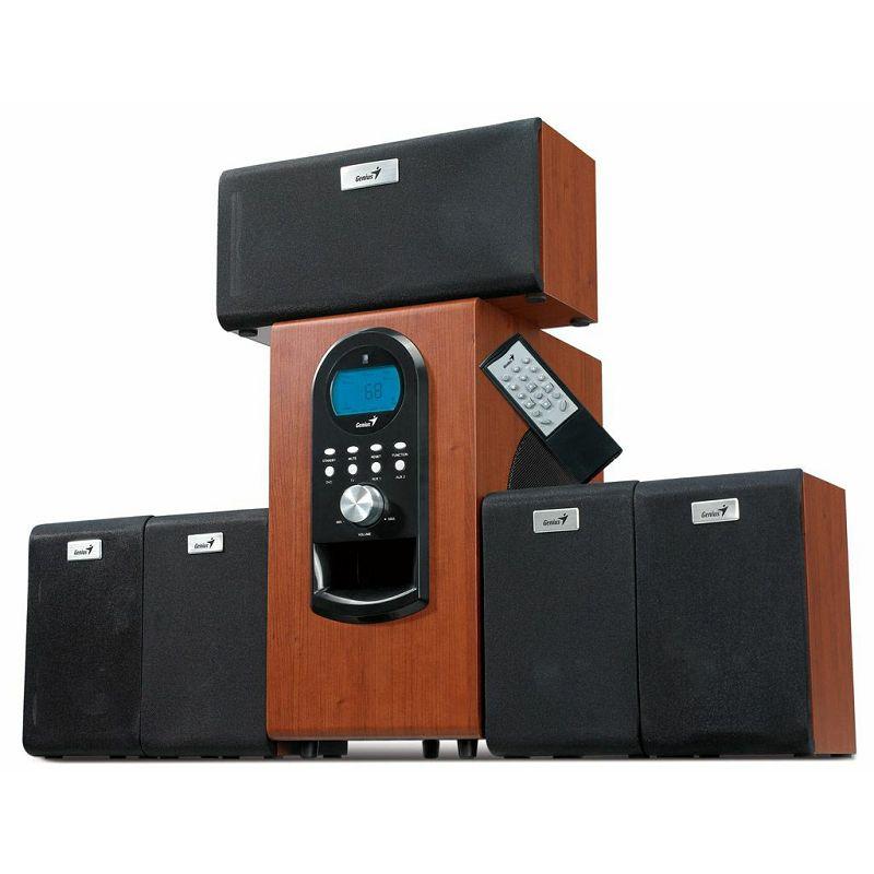 Genius zvučnici SW-HF5.1 6000, 200W RMS, Sateliti : 20W RMS, Subwoofer : 100W, daljinski, Frekventn