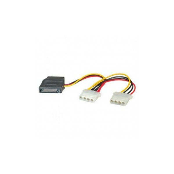 Kabel SATA int nap SATA>3xMolex, Roline, 11.03.1040