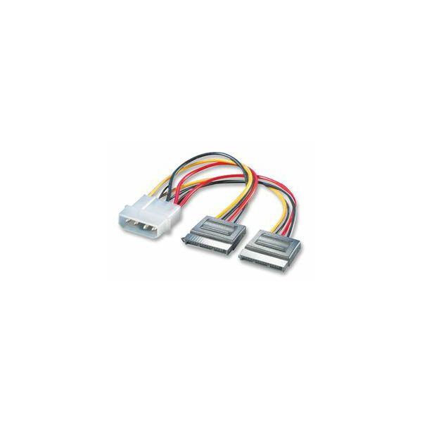 Kabel SATA int nap Molex>2xSATA, Roline, 11.03.1050