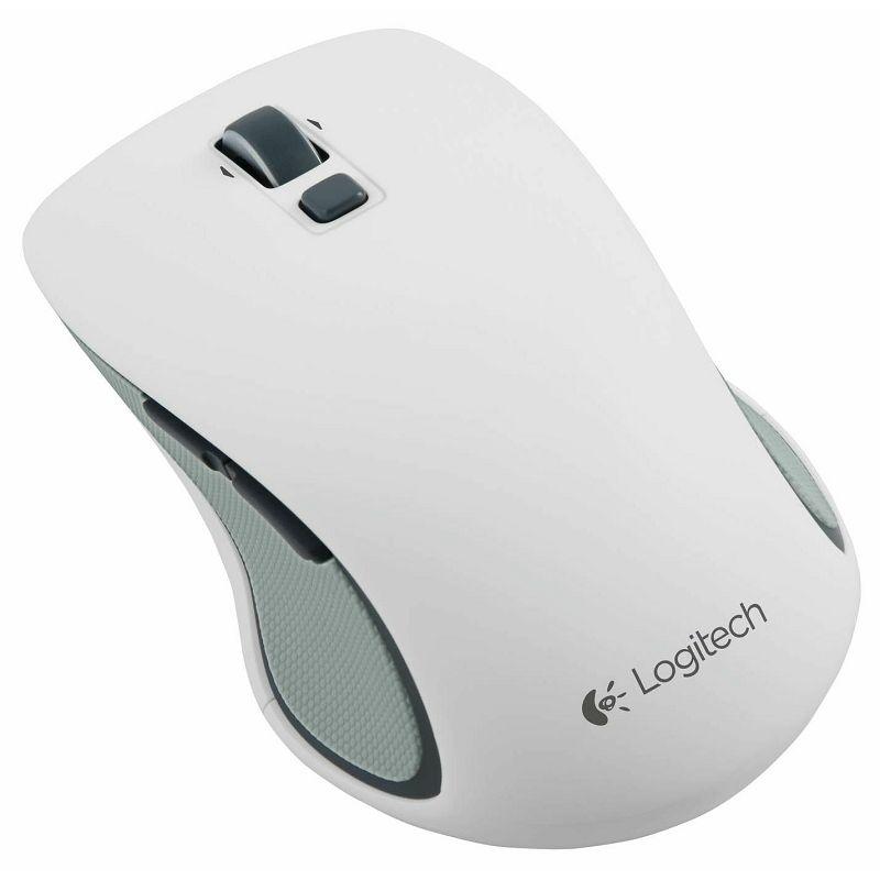 Logitech M560 Wireless Mouse white, Bežični USB miš, Nano prijemnik, 1 AA baterija, 2.4 GHz bežična