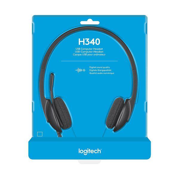 Logitech headset H340 USB, 981-000475