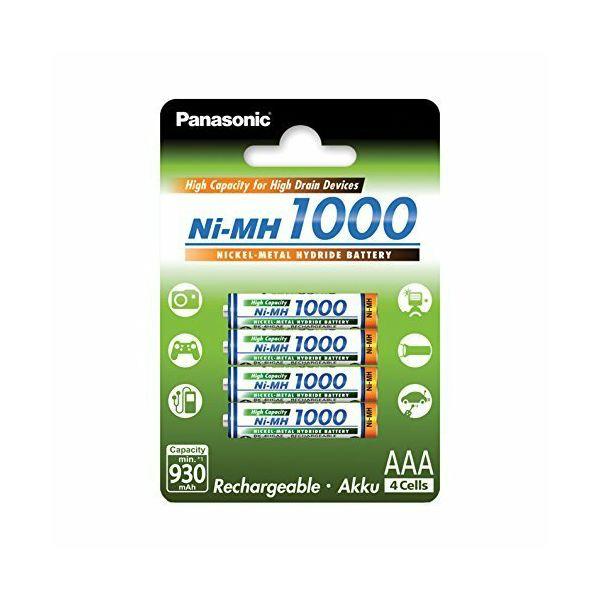 Panasonic bat AAA 1000mAh 4kom