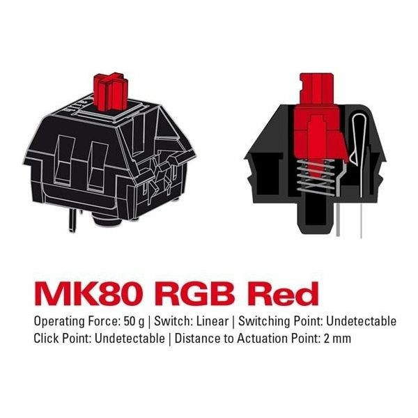 Sharkoon MK80 RGB Blue mehanička tipkovnica