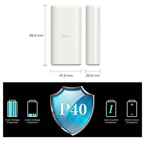 Silicon Powerbank 4000mAh White, P40