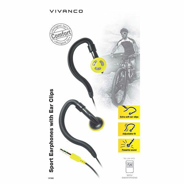 Slušalice Vivanco Sports SPX crno-žute