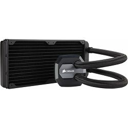 Corsair Hydro Series H100i GTX, liquid CPU cooling, 240mm top-mounted radiator (aluminium). Cooper