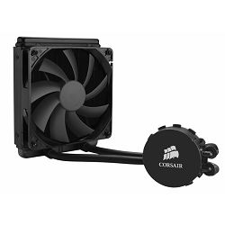 Corsair Hydro Series H90, liquid CPU cooling, 140mm top-mounted radiator. Cooper base, 1x 140mm fan