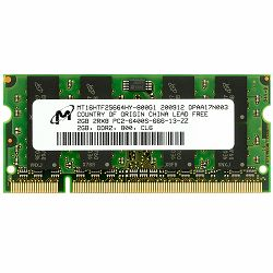 DDR2 2GB PC2-6400 800MHz CL6, Crucial, CT25664AC800, sodimm
