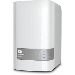 NAS 12TB (2x6TB) WD My Cloud Mirror (dual disk), 1x Gb LAN, WDBWVZ0120JWT